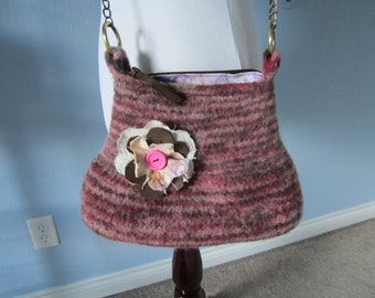 Felted Purse knit accessories handbag