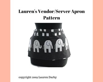 PDF Pattern Server Vendor Apron Tutorial