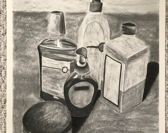 Cleaning Products Drawing