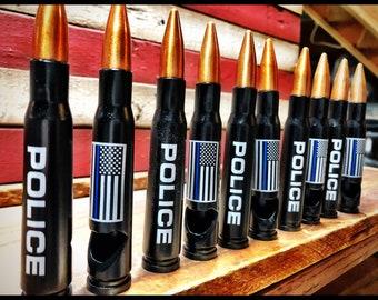 25 Bullet Bottle Openers, Thin Blue Line, 50 Caliber Bottle Opener