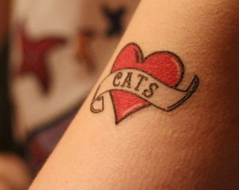 Cattoos - Cat Temporary Tattoos - Cat Gifts - Fake Tattoos - Gifts for Cat Lovers - Cat Themed Gifts - Temp Tats - Cat Accessories