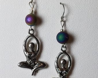 Yoga goddess, goddess earrings, goddess jewelry, new age, spiritual
