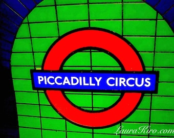 Piccadilly Circus London photography The Tube photography London Underground Metro Wall Art UK