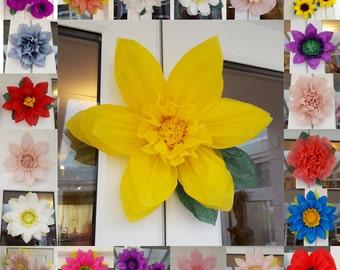 Pompom daffodil tissue paper flower 28cm wedding venue decorations centerpiece