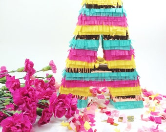 """Pinata Letter,10"""" Fringe Letters, Cinco de Mayo, Weddings, Fiesta Birthday, Baby Shower, Piñata Letter Mexican Decoration"""