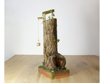 Fairy tower / Gnome tower - with lights - Fairy house / Gnome House
