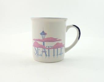 Vintage Seattle Mug, Seattle Washington, Space Needle Mug, Seattle Gift, Seattle Skyline, City Mug, Washington State Gift, Wa State Gift