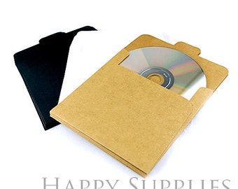 Handmade Paper CD Case have three Color (Black,White,Kraft paper) (Bulk Order Available)