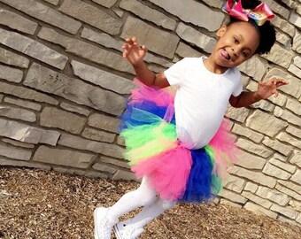 Neon Color Chunk TuTu Skirt