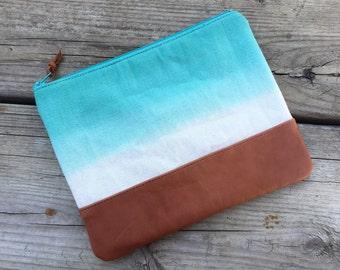 Ombre pouch, ombre zip pouch, ombre bag