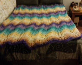 Multi Colored Knit afghan