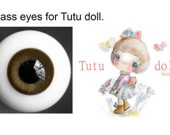 Tutu's Glass bjd eyes ,brown.