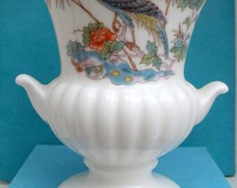 SALE - Wedgewood  Kutani Crane bone china small urn shape vase