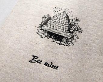 NEW Bee Mine design letterpress love valentines card