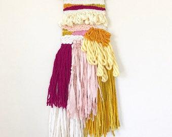 Weaving Wall Hanging, Woven Tapestry, Modern Textile Art, Woven Wall Art