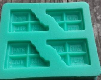 Bitten Chocolate Applique Silicone Mold