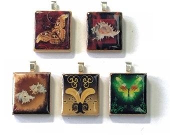 Set of 5 Scrabble Tile Pendants Set 5