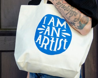 SALE - Lisa Congdon I Am an Artist Tote Bag