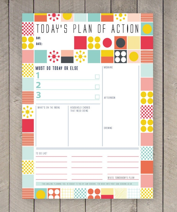 Printable Day Planner, Daily Organiser, Family Calendar, Appointment  Scheduler, Business Planner, Printable Worksheet, Printable To Do List  Daily Planner Sheets