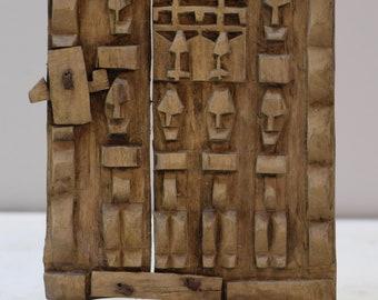 African Dogon Door Carved Wood Granary Door Dogoan Tribe Mali Dogon Granary Door