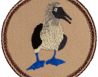 Blue-footed Booby Patch 2 Inch Diameter Embroidered Patch
