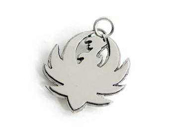 Ruger Phoenix Pendant - Sterling Silver Ruger Pendant - Phoenix Pendant - Layered Ruger Necklace - Phoenix Necklace
