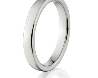 New 4mm Wide Comfort Fit Titanium Ring - 4HR-P