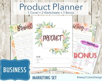 Product Keywords Set of 4, SEO Worksheet Package, Price Breakdown Calculator, Title and Description Guide, Tag Optimization Printable, PDF