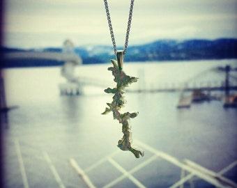 Silver lake Coeur d Alene pendant