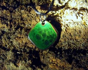 Green Enamel Necklace