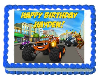 Blaze and the Monster Machines edible cake image cake topper frosting sheet