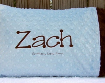 Personalized Toddler Pillow - Minky Pillowcase - Includes Pillow Insert - You Design