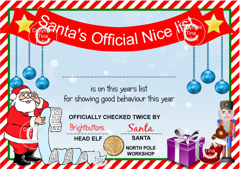 Santas nice list certificate studio print n cut pdf and zoom xflitez Gallery