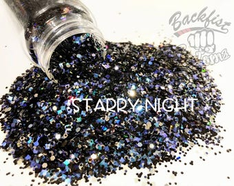 STARRY NIGHT || Opaque Chunky Glitter Mix, Solvent Resistant