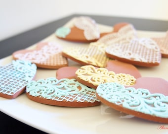 Handmade Cookie,Set of 10 Cookies,Valentine's Gift,Wedding Decor,Photography Props