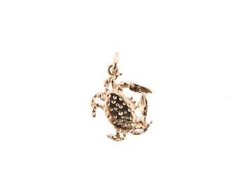 Rose Gold Crab Charm