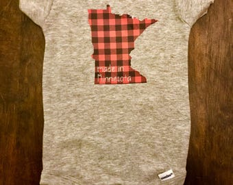 Buffalo Check Made In Minnesota Onesie