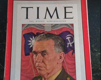 Spring Sale Vintage WW2 1946 Time Magazine General Marshall