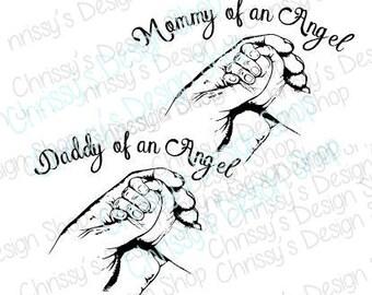 Daddy SVG / sympathy SVG / memorial svg / memory SVG / daddy's angel svg / daddy's hands svg / baby hands svg /daddy svg / vinyl crafts