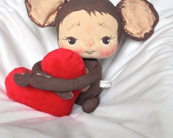 Sale** 50% off** Love Monkey a Soft Sculpture Baby Doll by BeBe Babies