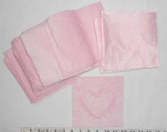 "Fabric -Soft Pink Minkie/Minky Precut Squares -(40ct- 6"" x 6"" squares)  This Minkie is soft on one side. Perfect for a baby blanket."