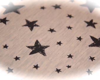 printed sweat ecru stars / anthracite