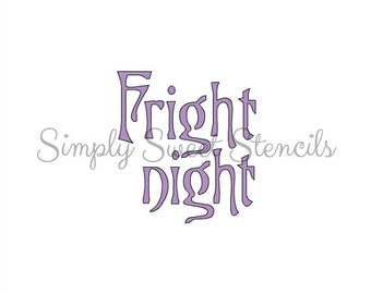 Fright Night Word Stencil