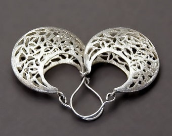 Silver Filigree Earrings, Silver Lace Earrings, Sterling Silver Earrings, Sterling Silver Earrings, Moroccan Earrings, Vintage Style Earring