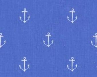 Blue Anchor Fabric