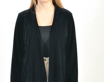 Vintage 90s velvet kimono, jacket