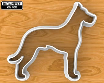 Great Dane Dog Cookie Cutter, Selectable sizes.
