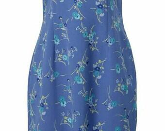 Blue Floral (Midi) Dress