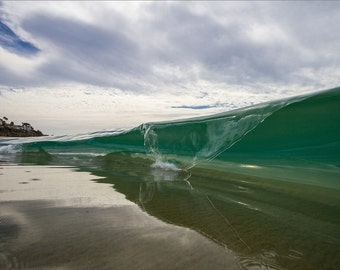 Liquid Glass - Orange County, CA - 12x18 16x24 20x30 24x36 Metal Print - Surf Photography - Water Photography - Modern Art Wall Art