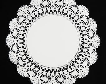 Lace doilies etsy 8 10 white cambridge paper lace doilies you pick quantity white paper doily mightylinksfo